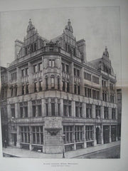 Alliance Insurance Offices, Manchester, England, 1897. Charles Heathcote. Photo