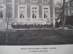 Hotel Particulier A Passy in  Paris, France, 1901. F. Paumier. Photo