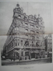 Hotel De L'Europe, Leicester Square, London, England, 1900. Walter Emden