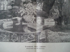 Library: Stanmore Hall, Bridgnorth, England, 1893. Brightwen Binyon. Photo