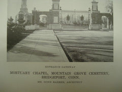 Entrance: Mortuary Chapel at Mountain Grove Cemetery. Bridgeport CT. 1916. Donn Barber