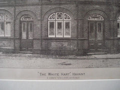 """White Hart"" in Havant, England, 1890. A. Edwin Stallard. Photo"