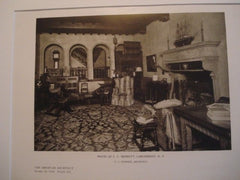 Interior, House of C. C. Merritt, Larchmont NY, 1926. F. J. Sterner. Lithograph