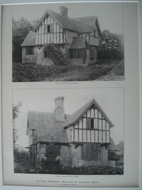 Cottage Dispensary,Waltham St Lawrence, Berkshire, England, 1892. E. P. Warren