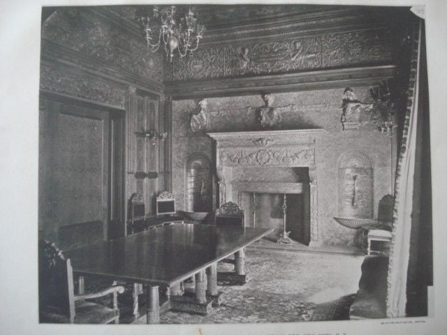 Dining Room: House of Hon. Whitelaw Reid in New York NY, 1889. McKim, Mead & White