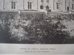 Chateau De Josselin in Morbihan, France, 1890. Photogravure