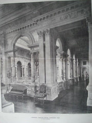 Corridor: Gosford House, Longniddry, Scotland, 1895. W. Young. Photogravure