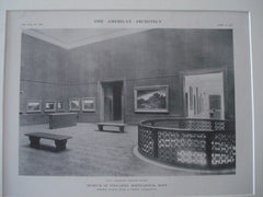 Museum of Fine-Arts, Minneapolis MN, 1915. McKim, Mead & White. Lithograph