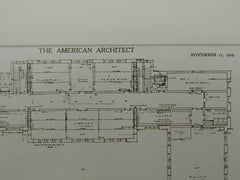 David Rankin, Jr. School of Mechanical Trades, St. Louis, MO, 1909. Orig. Plan. Eames & Young.