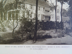 House of Mrs. Henry W. Rowe, Greenwich, CT, 1928, Lithograph