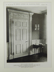 Living Room Door, House of Dr. Lynn L. Fulkerson, Riverdale, NY, 1922, Lithograph. Dwight James Baum.
