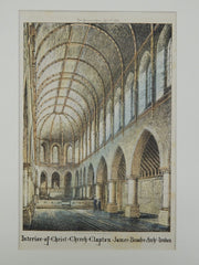 Interior of Christ Church, Clapton, Middlesex, England. 1870. James Brooks. Original