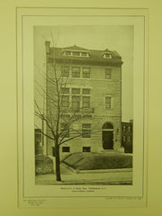 House of J. C. Hooe, Esq., Washington, DC, 1904, Lithograph. Totten & Rogers.