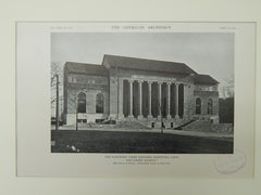 The Hartford Times Building, Hartford, CT, 1921, Lithograph. Donn Barber.