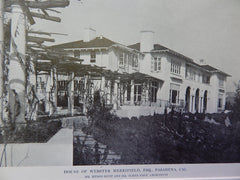 House of Webster Merrifield, Esq., Pasadena,CA, 1914. Hunt & Grey.