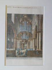 Organ, St. John's Church, Gouda, Netherlands, 1894, Original Plan.