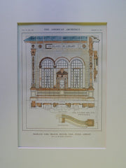 Highland Park Branch of Public Library, Denver, CO, 1914, Original Plan.Benedict.