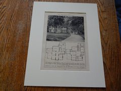 House of JK Lilly,Jr,Indianapolis,IND,Osler/Burns,Amer Architect,Lithograph,1926