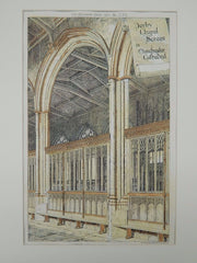 Perby Chapel Screen, Manchester Cathedral, Manchester, UK, 1884, Original Plan. H. Harrington.
