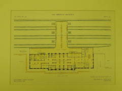 Baltimore Union Station, Floor Plan, Baltimore, MD, 1910, Original Plan. Kenneth M. Murchison.