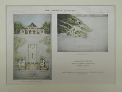 Design for the Scott Memorial Fountain in Detroit MI, 1915. Henry & Robert McGoodwin