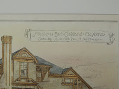 Stable at East Oakland, CA, 1884, Original Plan. Clinton Day.