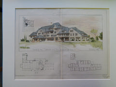 Red Swan Inn, Warwick, Orange County, NY, 1902. Original Plan. Dietrich.