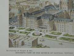Birdseye View, Museum of Natural History, Washington, DC, 1899, Original Plan. Cady, Berg & See.