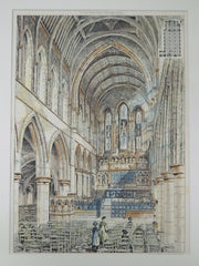 Interior, St. Thomas of Canterbury, Brentwood, UK, 1883, Original Plan.