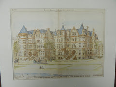 Group of Buildings for Potter Palmer, Lake Shore Dr, Chicago, IL, 1890, OrigPlan. C.M. Palmer.