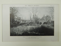 House of Mr. Duane Armstrong, Greenwich, CT, 1921, Lithograph. James C. Green.