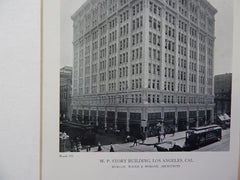 W.P. Story Building, Los Angeles, CA, 1918,Lithograph. Morgan, Walls & Morgan.