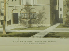 Residence of Henry Hooper, M.D., Chicago, IL, 1891, Colored Photograph. Francis M. Whitehouse.