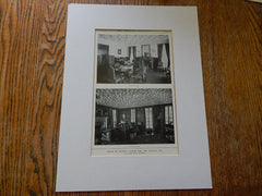 House of Russell Taylor,ESQ, Interior, Los Angeles,CA, Lithograph,1914. Myron Hunt.