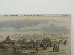 Barracks and Magazine in the Hill, 1862. Colored Illustration.