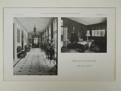 Interior Views, Detroit Golf Club, Detroit, MI, 1921, Lithograph. Albert Kahn.