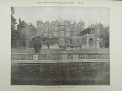 South Front, Holland House, Kensington, England, 1891, Lithograph.