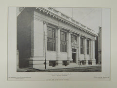 The National Mechanic's Bank, Baltimore, MD, 1906, Lithograph. Taylor & Knowles.