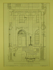 Details, US Post Office and Custom House, Grand Rapids, MI, 1905, Original Plan.  James Knox Taylor.