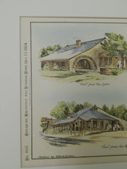 Chestnut Hill Station, Boston & Albany RR, Chestnut Hill, MA, 1884. Orig Plan.