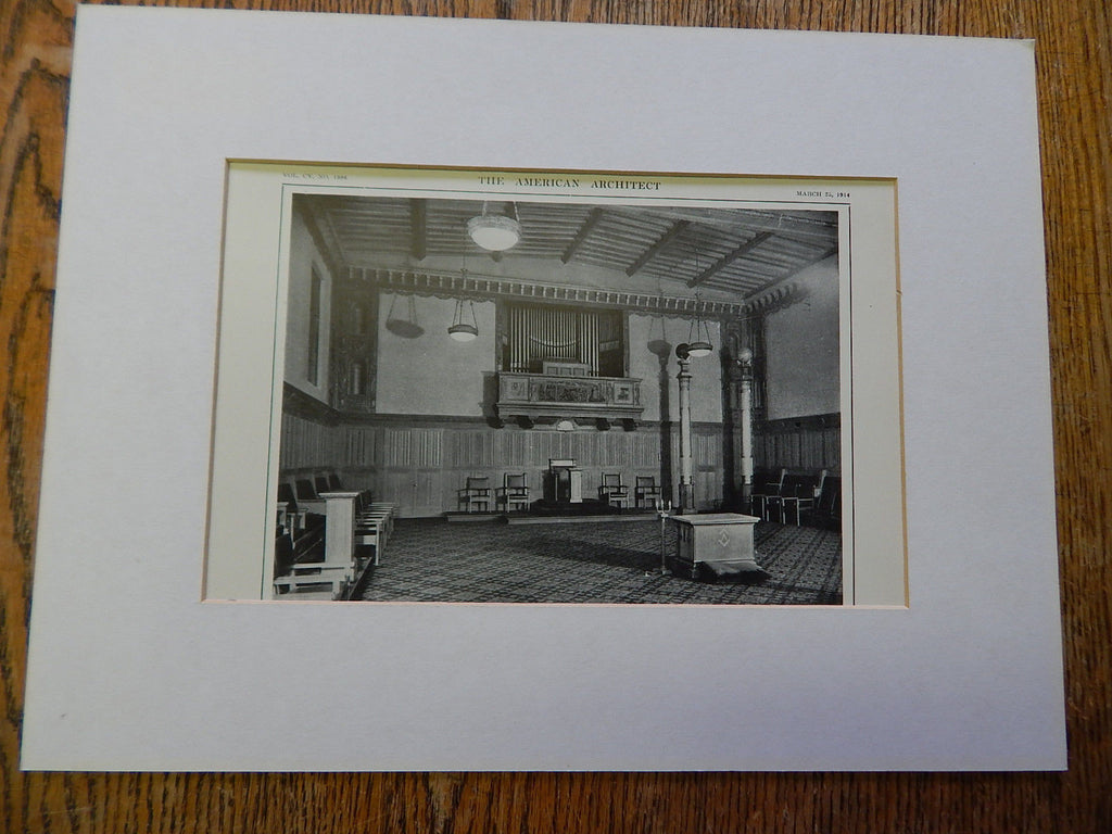 Lodge Room No. 2, Masonic Temple, San Francisco, CA, 1914. Bliss & Faville.