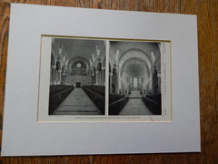 Chapel of Villa De Matel,Houston, TX, 1928,Lithograph. Sullivan.
