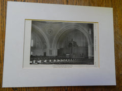 Temple Ohabei Shalom, Brookline, MA,1928, Lithograph. Blackall, Clapp & Whittemore.