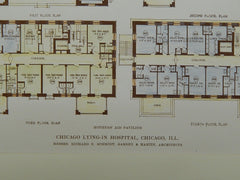 Mothers' Aid Pavilion: Lying-In Hospital, Chicago IL, 1915. Richard E. Schmidt, Garden & Martin