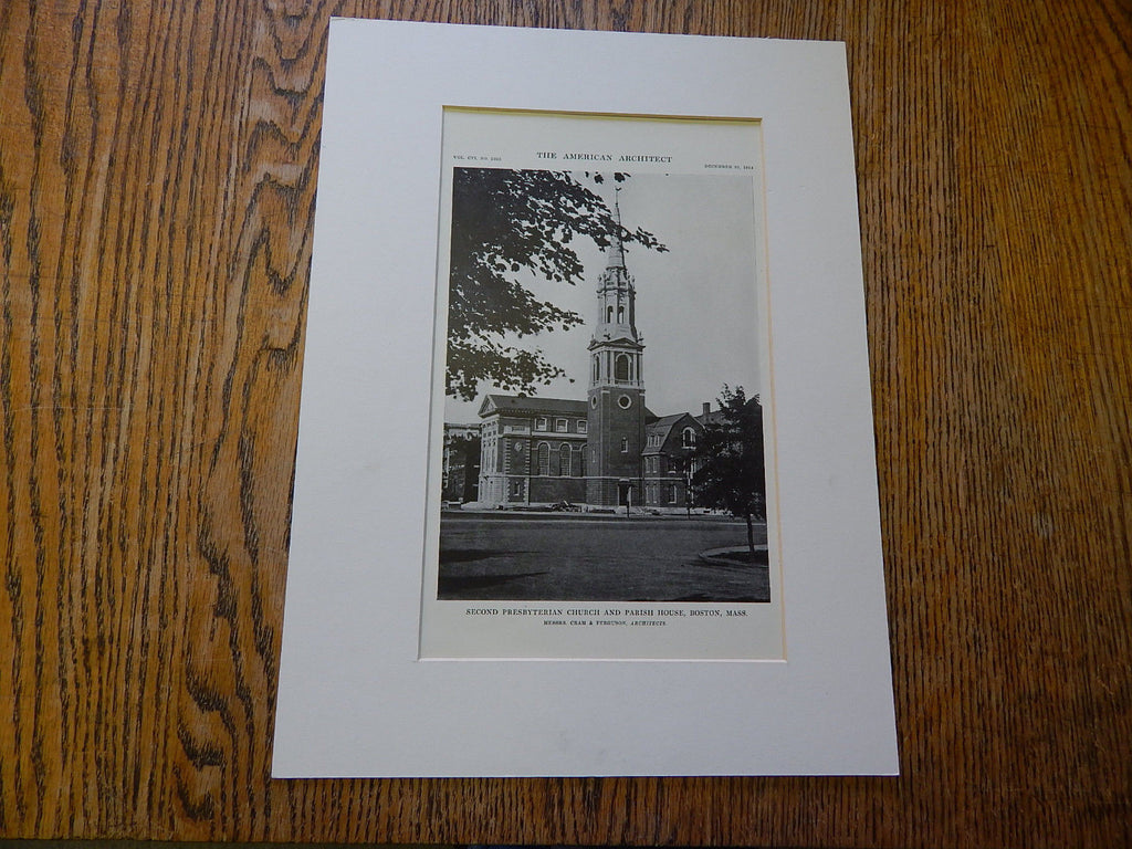 Second Presbyterian Church,Parish House #3,Boston, MA, 1914. Cram & Ferguson.