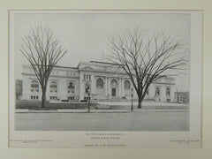 The Public Library, Washington, DC, 1906, Lithograph. Ackerman & Ross.