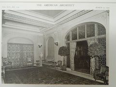 The Lounging Room, New Lotus Club, New York, New York, 1909, Lithograph. Mr. Donn Barber.