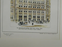 The Massachusetts Building, State Street, Boston, MA, 1904. Original Plan.