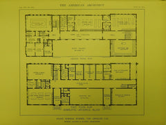 Domestic Science Floors, State Normal School, Los Angeles, CA, 1914, Original Plan. Allison&Allison