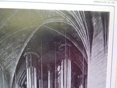 Organ, First Baptist Church, Pittsburgh, PA, 1924, Lithograph. Cram, Goodhue & Ferguson.